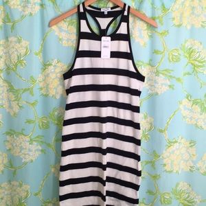 Splendid striped halter dress